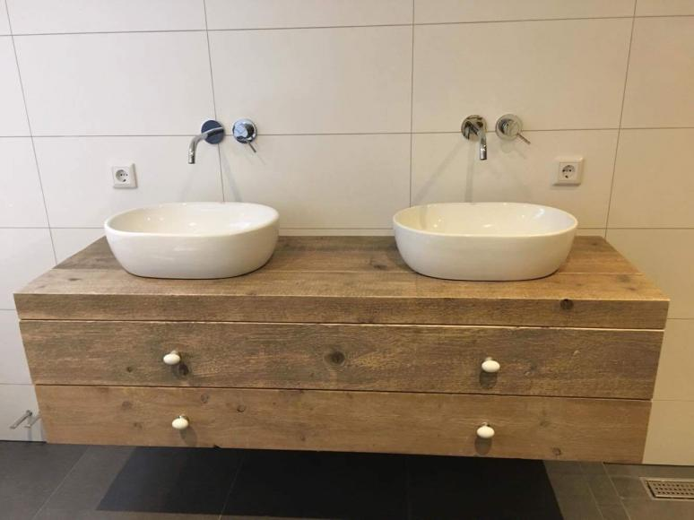 Steigerhout Bakel | Badkamer meubel